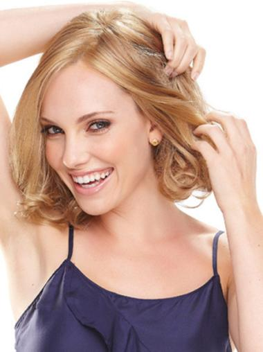 Blonde Wavy Synthetic Discount Medium Wigs