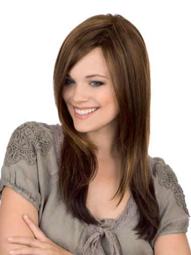 Gorgeous Remy Human Hair Monofilament Straight Long Wigs