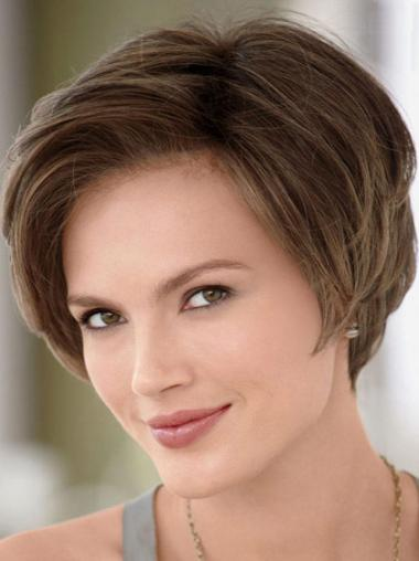 Easy Monofilament Straight Short Celebrity Wigs