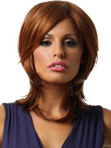 Synthetic Shoulder Length LayeLace Front Style Wigs