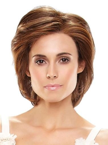 Fashion Auburn Straight Chin Length Wigs For Cancer