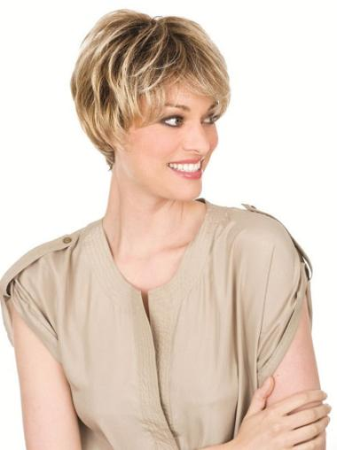 Blonde Wavy Synthetic Amazing Short Wigs