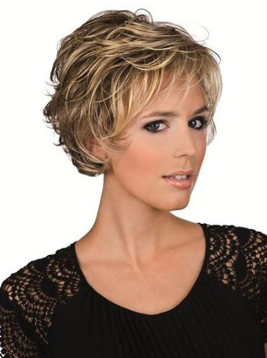 Lace Front Incredible Layered Wavy Short Wigs