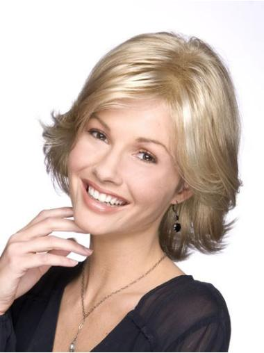 Fashion Blonde Wavy Chin Length Classic Wigs