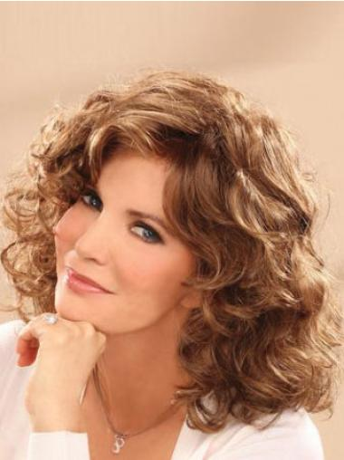 Durable Lace Front Wavy Shoulder Length Classic Wigs