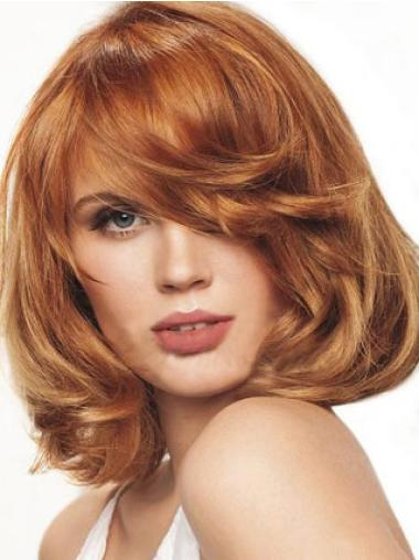 Easy Monofilament Wavy Chin Length Wigs