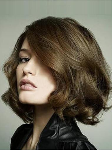 Tempting Lace Front Wavy Chin Length Bob Wigs
