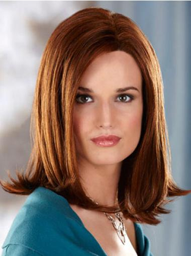 Fabulous Auburn Straight Shoulder Length Synthetic Wigs