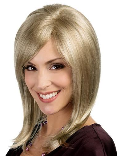 Wholesome Blonde Monofilament Shoulder Length Lace Wigs