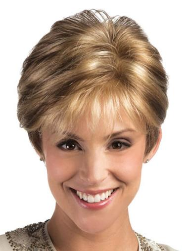 Synthetic Blonde Lace Front Pleasing Short Wigs