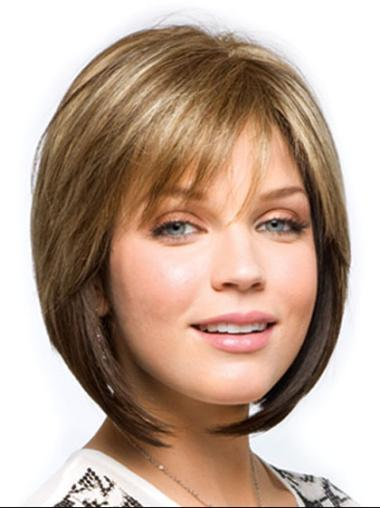 Brown Amazing Straight Synthetic Medium Wigs