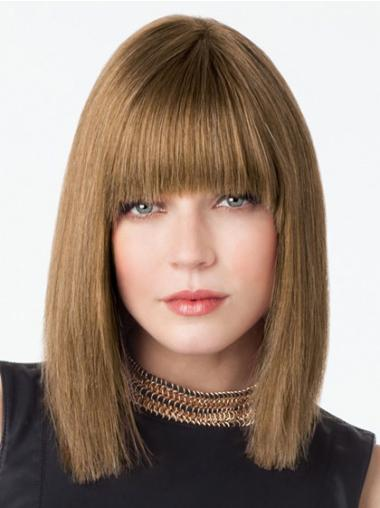 Stylish Lace Front Shoulder Length Remy Human Lace Wigs