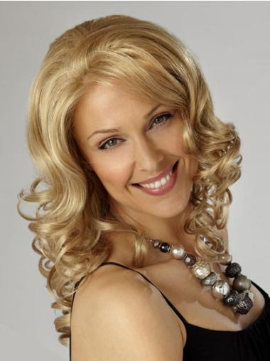 Nice Blonde Curly Synthetic Long Wigs