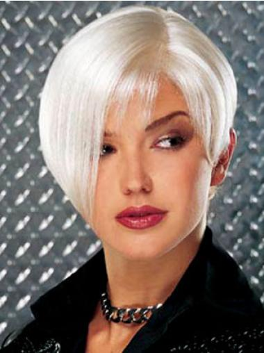 Perfect Monofilament Short Synthetic Grey Wigs