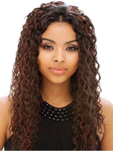 Sassy Auburn Curly Long Human Hair Full Lace Wigs