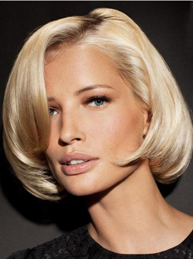 Glamorous Blonde Lace Front Chin Length Wigs