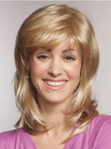 Great Blonde Straight Shoulder Length Lace Front Wigs