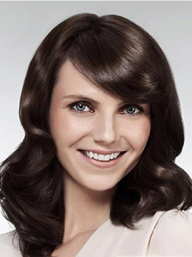 Mature Synthetic Lace Front Wavy Long Wigs