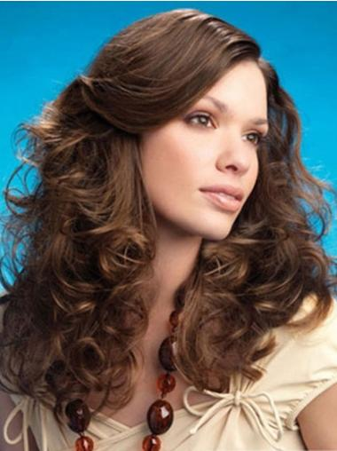 Lace Front Curly Synthetic Stylish Long Wigs