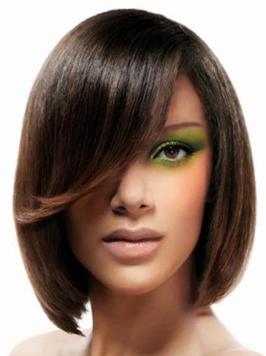 Lace Front Straight Chin Length Lace Wigs