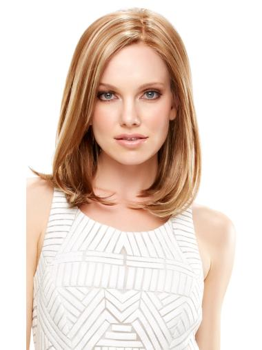 Perfect Blonde Straight Shoulder Length Lace Front Wigs