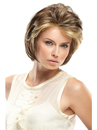 Blonde Wavy Synthetic Durable Short Wigs