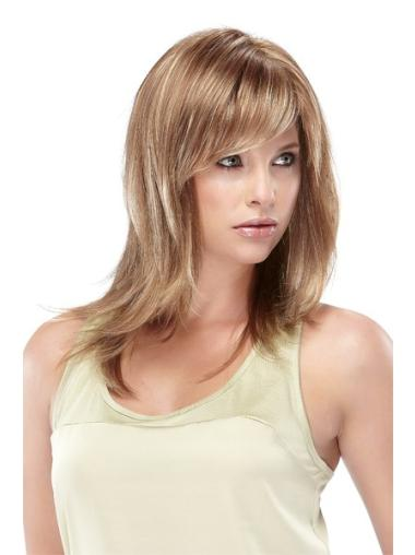 Incredible Blonde Straight Shoulder Length Lace Front Wigs