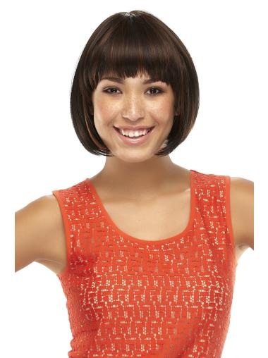 Fashionable Lace Front Straight Chin Length Lace Wigs