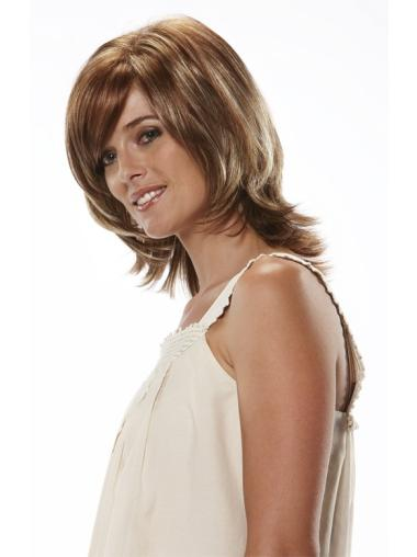 Wholesome Auburn Wavy Shoulder Length Wigs