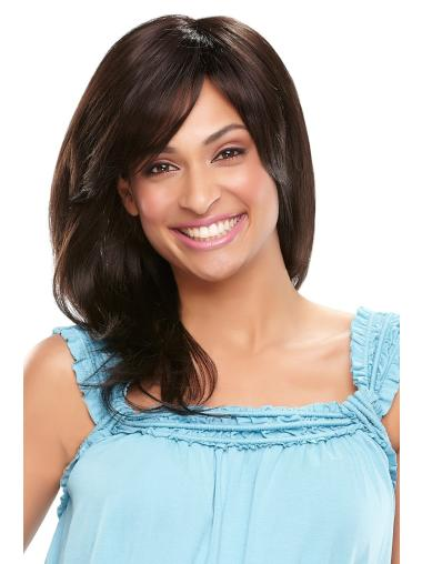 Black Wavy Synthetic Comfortable Medium Wigs