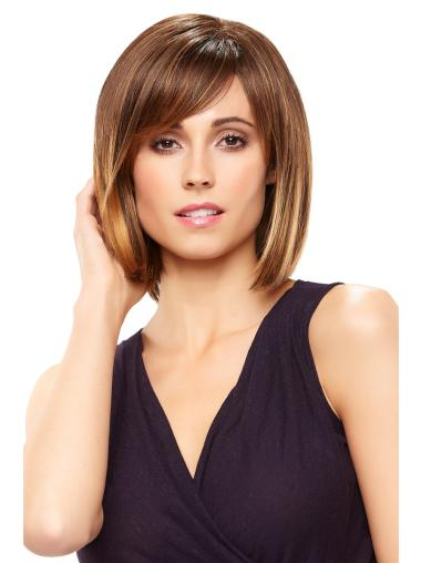 Perfect Lace Front Straight Chin Length Wigs For Cancer