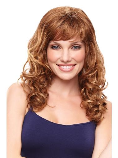 Beautiful Auburn Wavy Synthetic Long Wigs