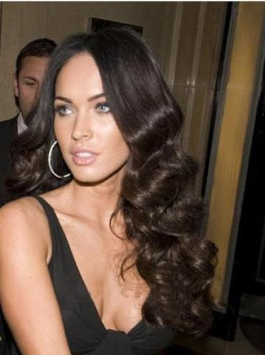 Affordable Black Wavy Long Celebrity Wigs
