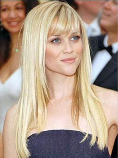 Cosy Remy Human Hair Blonde Straight Long Wigs