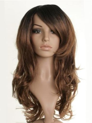 Nice Brown Wavy Long Celebrity Wigs