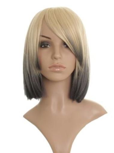 Blonde Straight Chin Length Celebrity Wigs