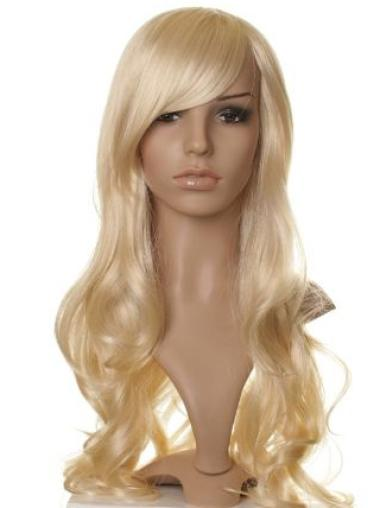 Faddish Blonde Wavy Long Synthetic Wigs