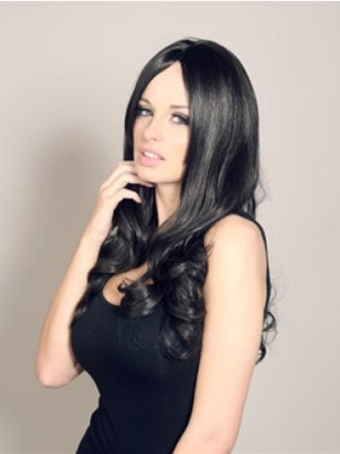 Fabulous Black Wavy Long Celebrity Wigs