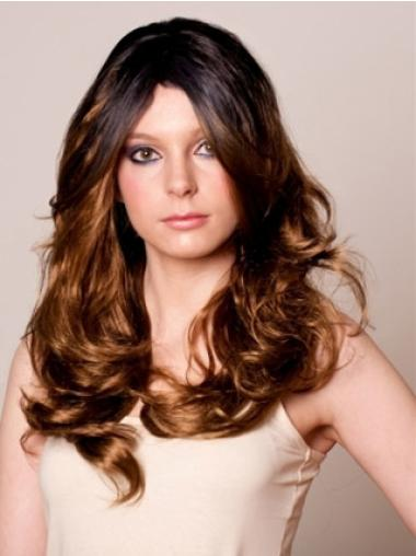 Trendy Brown Wavy Long Celebrity Wigs