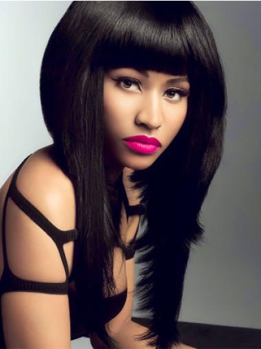 New Black Lace Front Long Nicki Minaj Wigs
