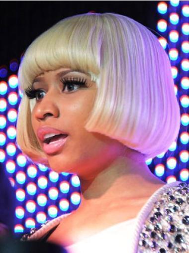 Style Blonde Straight Short Nicki Minaj Wigs