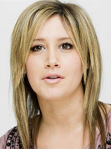 Popular Blonde Straight Shoulder Length Celebrity Wigs