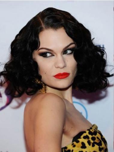 Flexibility Black Curly Chin Length Jessie J Wigs