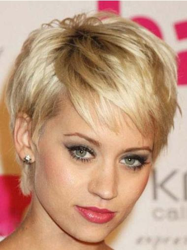 Good Blonde Straight Cropped Celebrity Wigs