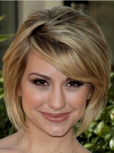 Modern Blonde Straight Chin Length Celebrity Wigs