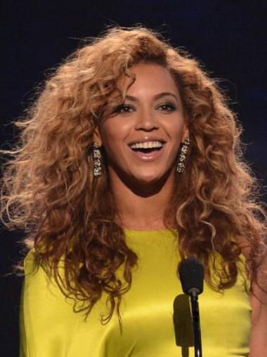 No-fuss Auburn Curly Long Beyonce Wigs