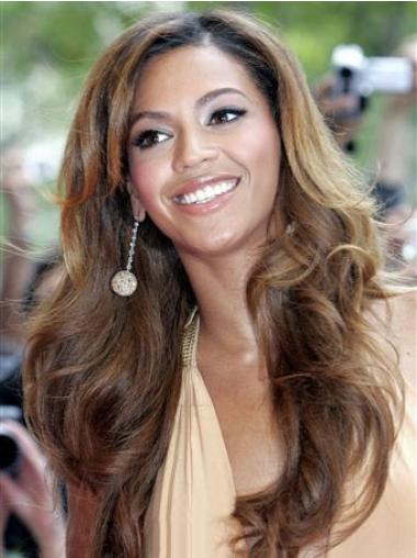 Preferential Brown Wavy Long Beyonce Wigs