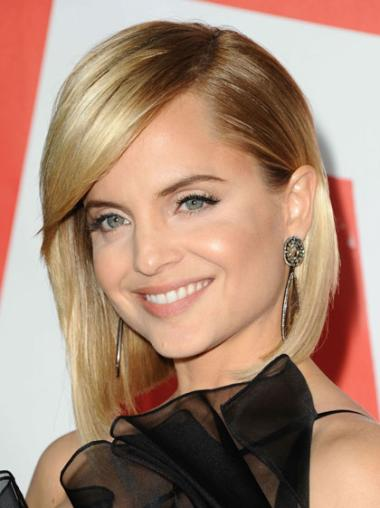 Wholesome Blonde Straight Chin Length Celebrity Wigs