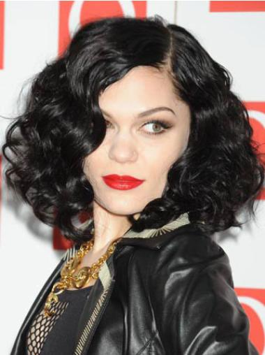 Natural Black Curly Chin Length Jessie J Wigs