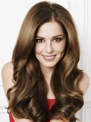 Nice Brown Wavy Long Cheryl Cole Wigs